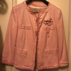 Zara pink suit jacket